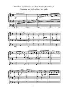 Freue dich Welt: Für Orgel (oder Klavier) by Georg Friedrich Händel