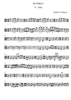 Avvidecci: Violastimme by Sandro G. Masoni