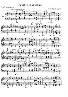 Mazurkas, Op.17: Vollsammlung by Frédéric Chopin