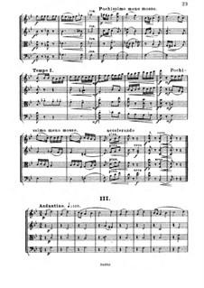 Streichquartett Nr.3 in Es-Dur, Op.91: Teil III by César Cui