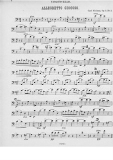 Fünf Klavierstücke, FS 10 Op.3: Nr.2 Humoreske für Klaviertrio – Cellostimme by Carl Nielsen