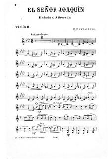 El Señor Joaquín: Violinstimme II by Manuel Fernández Caballero