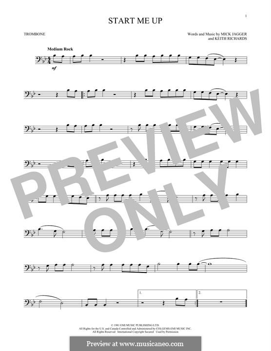 Start Me Up (The Rolling Stones): For trombone by Keith Richards, Mick Jagger