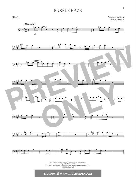 Purple Haze: Für Cello by Jimi Hendrix