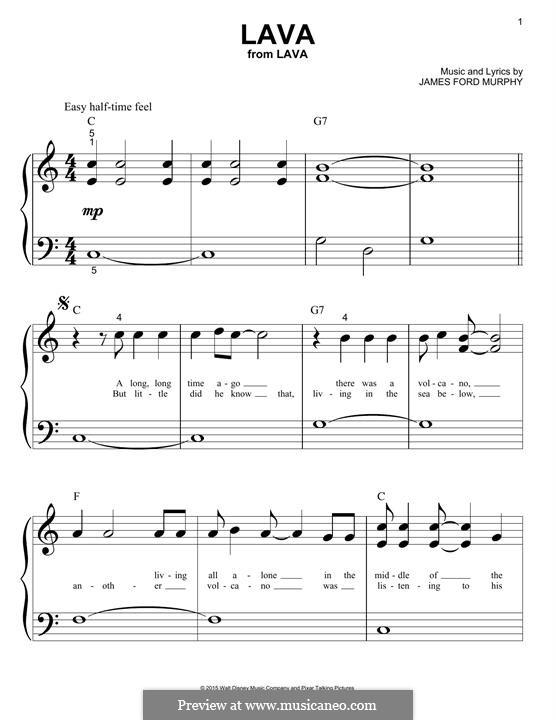 Lava: Für Klavier, leicht by James Murphy