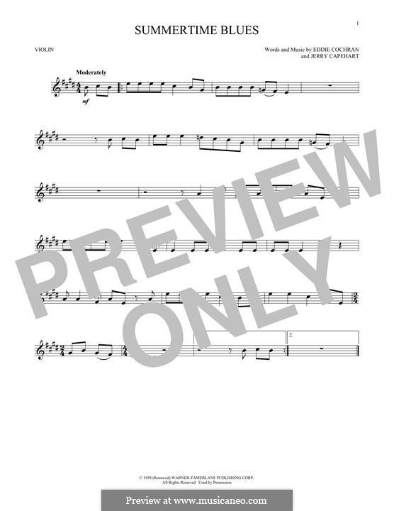Summertime Blues: Für Violine by Jerry Capehart