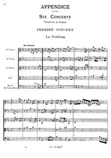 Cembalokonzert Nr.1 in c-Moll, RCT 7: Bearbeitung für Streichsextett by Jean-Philippe Rameau