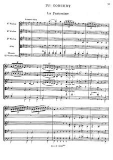 Cembalokonzert Nr.4 in B-Dur, RCT 10: Bearbeitung für Streichsextett by Jean-Philippe Rameau