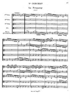 Cembalokonzert Nr.5 in d-Moll, RCT 11: Bearbeitung für Streichsextett by Jean-Philippe Rameau