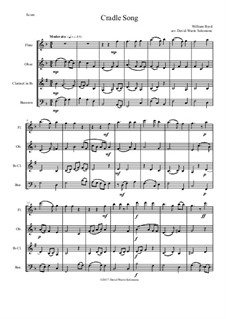 Cradle Song: For wind quartet by William Byrd