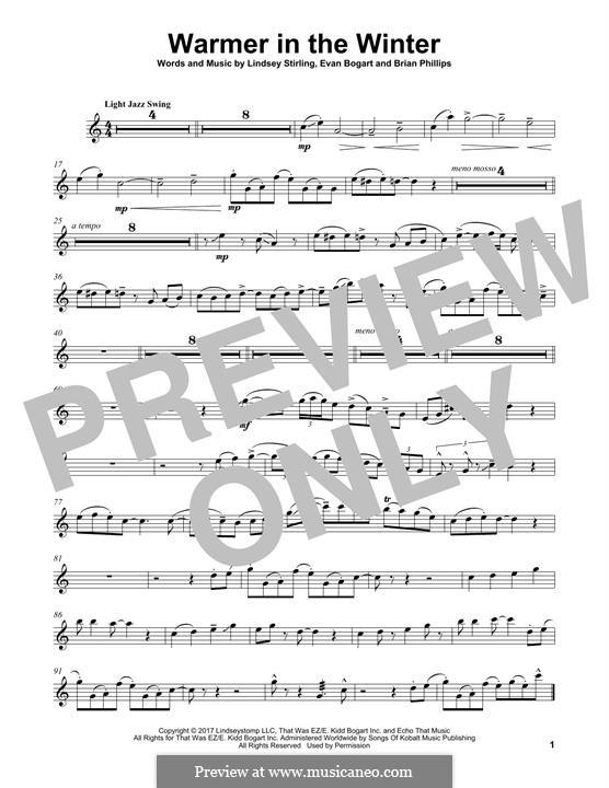Warmer in the Winter: Für Violine by Evan Kidd Bogart, Lindsey Stirling, Brian Phillips