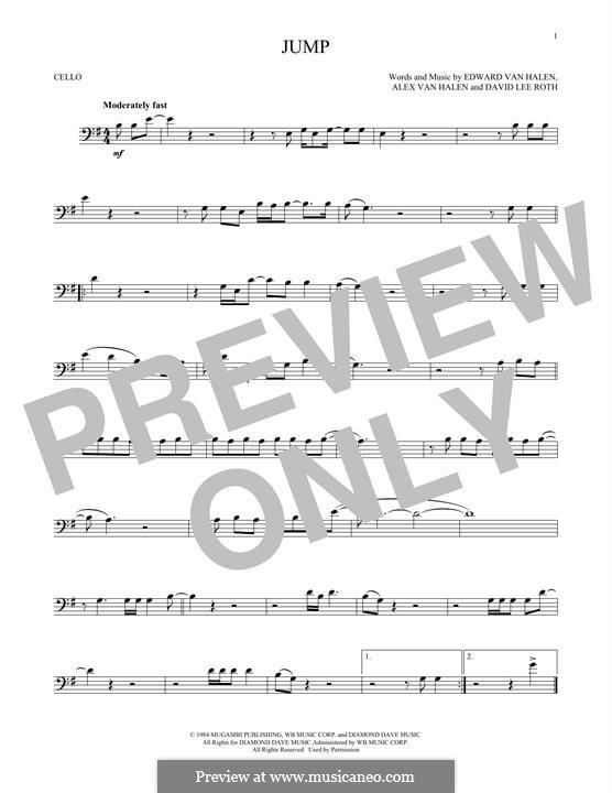 Jump (Van Halen): Für Cello by Alex Van Halen, David Lee Roth, Edward Van Halen, Michael Anthony