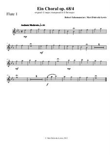 Nr.4 Ein Choral: For wind instruments by Robert Schumann