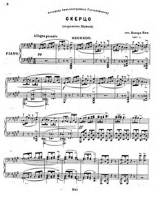 Scherzo No.2 'à la Schumann', Op.2: Erste und zweite Stimme by César Cui