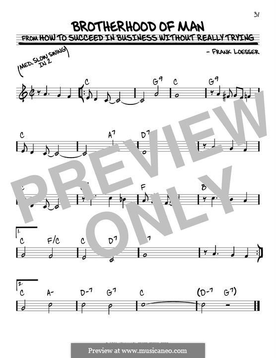 Brotherhood of Man: Für Gitarre by Frank Loesser