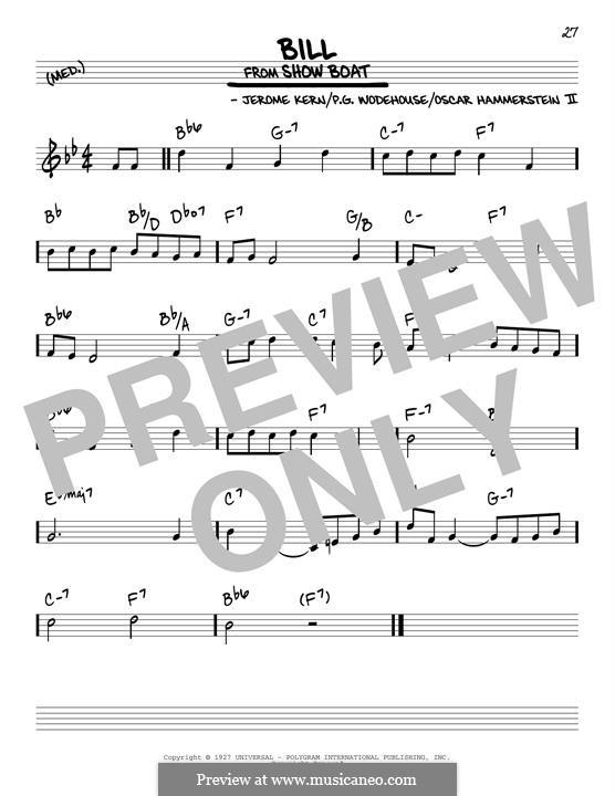 Bill: Für Gitarre by Jerome Kern
