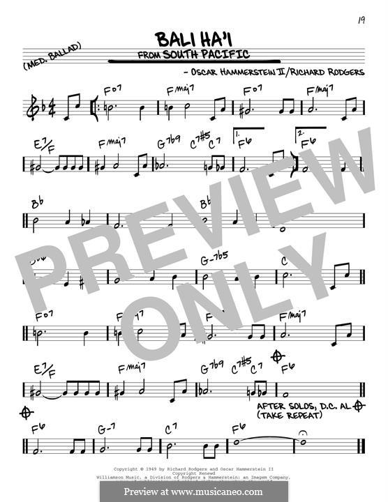 Bali Ha'i: Für Gitarre by Richard Rodgers