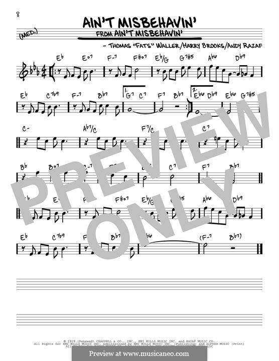 Ain't Misbehavin': Für Gitarre by Fats Waller, Harry Brooks
