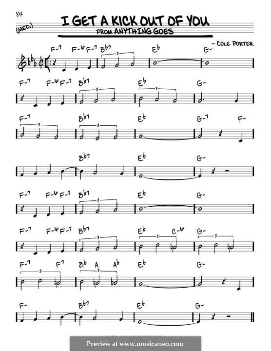 I Get a Kick Out of You (Frank Sinatra): Für Gitarre by Cole Porter