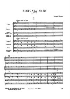 Sinfonie Nr.52 in c-Moll, Hob.I/52: Sinfonie Nr.52 in c-Moll by Joseph Haydn
