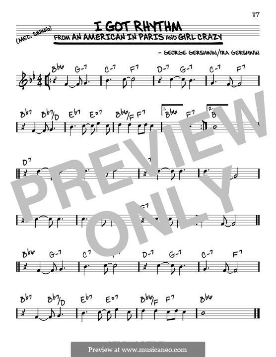 I Got Rhythm: Für Gitarre by George Gershwin