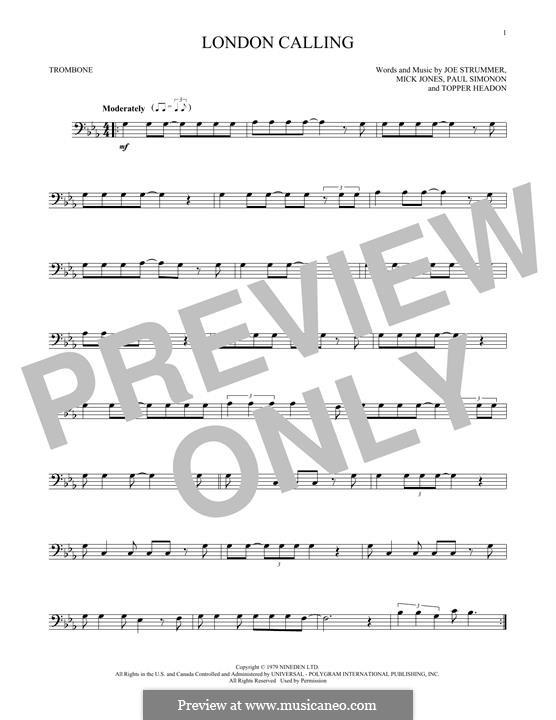 London Calling (The Clash): For trombone by Joe Strummer, Mick Jones, Paul Simonon, Topper Headon