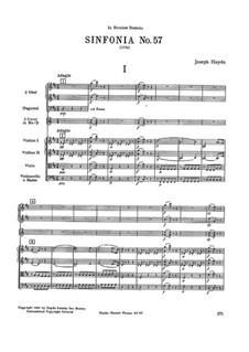 Sinfonie Nr.57 in D-Dur, Hob.I/57: Sinfonie Nr.57 in D-Dur by Joseph Haydn