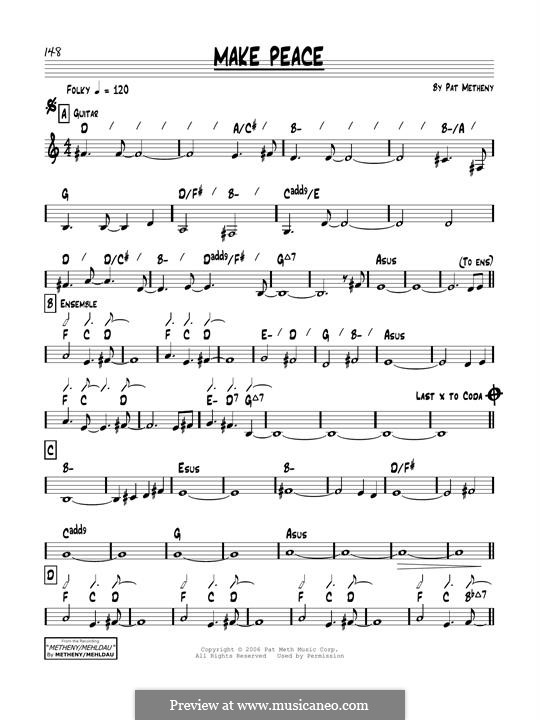 Make Peace: Für Gitarre by Pat Metheny