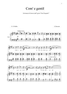 Don Pasquale: Come gentil... by Gaetano Donizetti