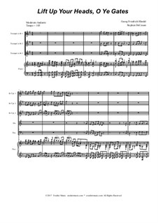 Lift Up Ye Heads, O Ye Gates: Für Blechblasquintett by Georg Friedrich Händel