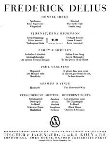 Chanson d'automne: Chanson d'automne by Frederick Delius