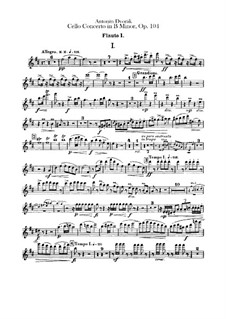 Konzert für Cello und Orchester in h-Moll, B.191 Op.104: Flötenstimme by Antonín Dvořák