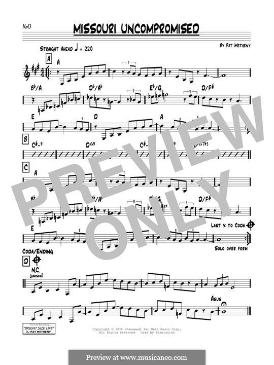 Missouri Uncompromised: Für Gitarre by Pat Metheny