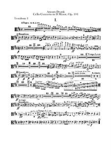 Konzert für Cello und Orchester in h-Moll, B.191 Op.104: Posaunen- und Tubastimmen by Antonín Dvořák