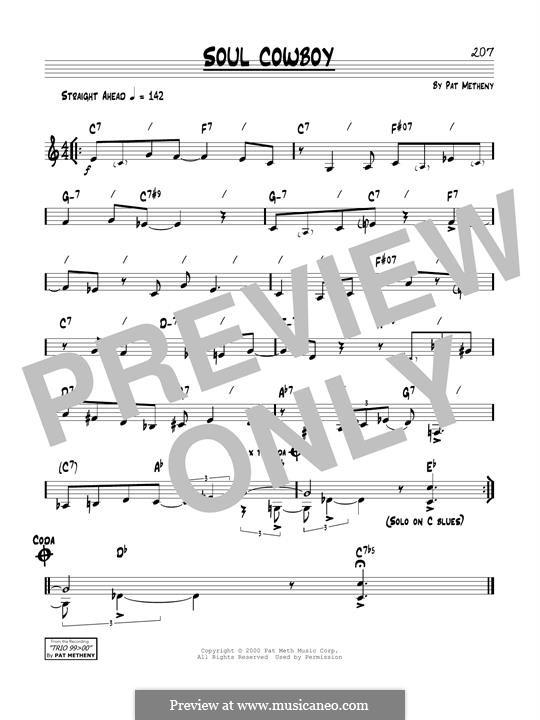 Soul Cowboy: Für Gitarre by Pat Metheny