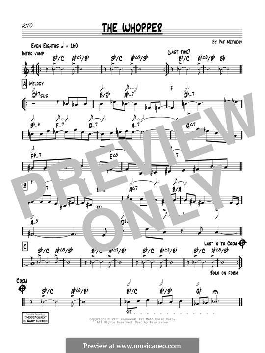 The Whopper: Für Gitarre by Pat Metheny