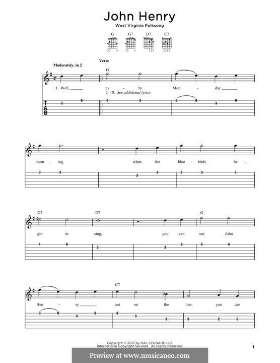John Henry: Für Gitarre by folklore