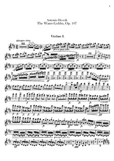 Der Wassermann, B.195 Op.107: Violinstimme I by Antonín Dvořák