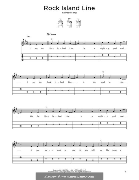 Rock Island Line: Für Gitarre by folklore