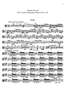Das goldene Spinnrad, B.197 Op.109: Violastimme by Antonín Dvořák