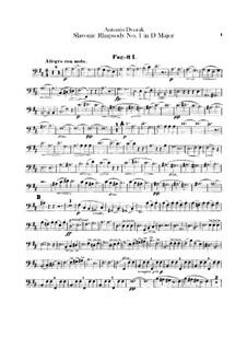 Rhapsodie Nr.1 in D-Dur: Fagottstimme by Antonín Dvořák