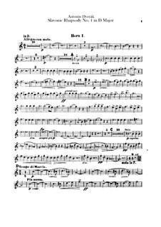 Rhapsodie Nr.1 in D-Dur: Hörnerstimmen by Antonín Dvořák