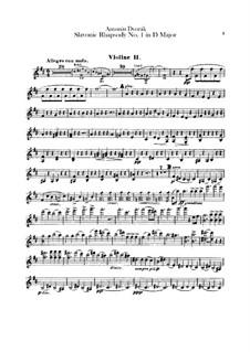Rhapsodie Nr.1 in D-Dur: Violinstimme II by Antonín Dvořák