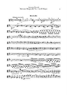 Rhapsodie Nr.1 in D-Dur: Violastimme by Antonín Dvořák