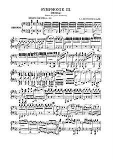 Sinfonie Nr.3 'Eroica', Op.55: Version für Klavier, vierhändig by Ludwig van Beethoven