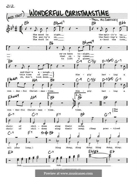 Wonderful Christmastime: Für Gitarre by Paul McCartney
