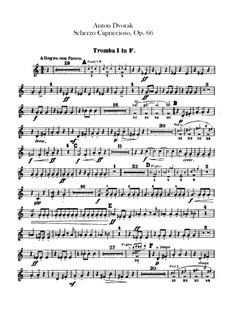 Scherzo Capriccioso, B.131 Op.66: Trompetenstimmen by Antonín Dvořák