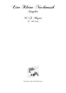 Vollständige Teile: For brass sextet by Wolfgang Amadeus Mozart