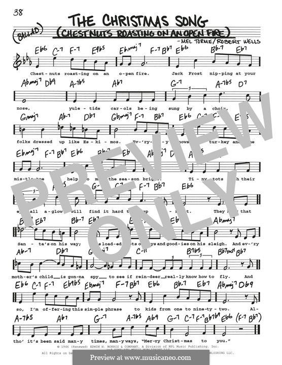 The Christmas Song (Chestnuts Roasting on an Open Fire): Für Gitarre by Mel Tormé, Robert Wells