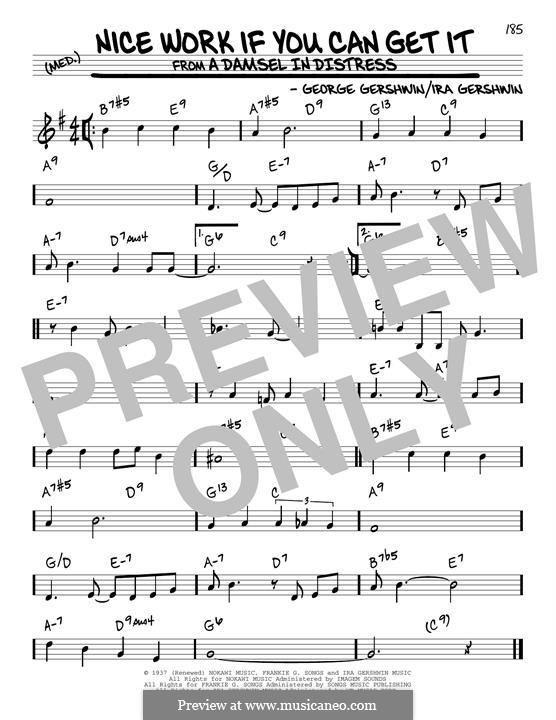 Nice Work if You Can Get It: Für Gitarre by George Gershwin